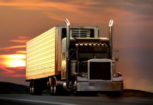 Geschwindigkeitsüberschreitungen treten auf, wenn Sie zu schnell fahren mit dem Lkw.