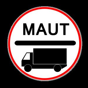 Die Lkw-Maut wird durch dieses Zeichen gekennzeichnet.