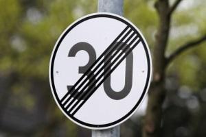 Aufhebung einer Geschwindigkeitsbegrenzung
